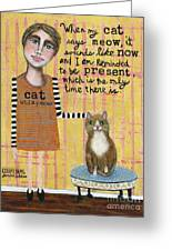 Cat Whisperer Greeting Card