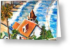 Catalina Cottage Sold Greeting Card
