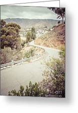 Catalina Island Mountain Road Picture Greeting Card