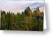 Catalina Mountains In The Fall Greeting Card