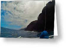 Catamaran In Kauai Greeting Card
