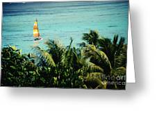 Catamaran On Tumon Bay Greeting Card