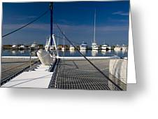 Catamaran Ready To Sail Greeting Card