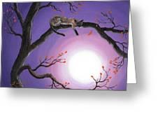 Catch A Falling Leaf Greeting Card