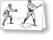 Catcher & Batter, 1889 Greeting Card by Granger