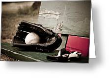 Catcher Greeting Card by Valerie Morrison