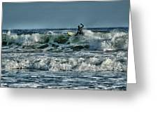 Catching A Wave Greeting Card