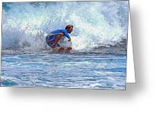 Catching The Wave Greeting Card