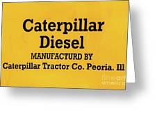 Caterpillar D2 Bulldozer 08 Greeting Card
