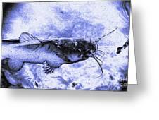 Catfish Blue Greeting Card