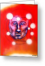 Cathartic Reaction Greeting Card by Paulo Zerbato