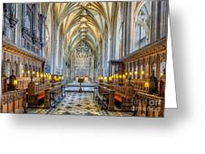 Cathedral Aisle Greeting Card