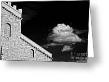 Cathedral And Cloud Greeting Card by Silvia Ganora