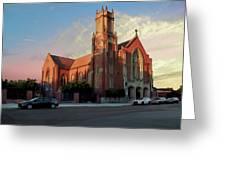 Cathedral At Dawn Greeting Card