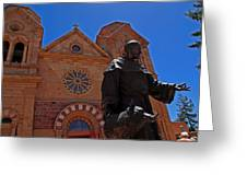 Cathedral Basilica In Santa Fe Greeting Card
