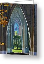 Cathedral Columns Of The St. Johns Bridge Greeting Card
