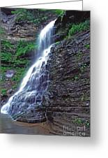 Cathedral Falls In Spring Greeting Card