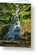 Cathedral Falls - Paint Greeting Card