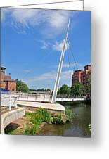 Cathedral Green Bridge At Derby Greeting Card