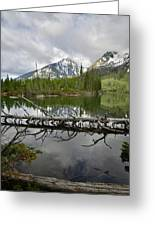 Cathedral Group Reflection On String Lake Greeting Card