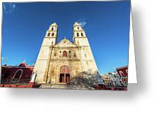 Cathedral In Campeche Greeting Card