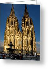 Cathedral In Cologne  Greeting Card
