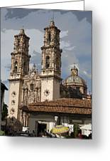 Cathedral In Taxco Mexico Greeting Card