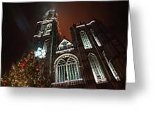 Cathedral In The Mist Greeting Card