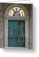 Cathedral Of Amalfi Door Greeting Card