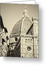 Cathedral Of Brunelleschi In Florence Greeting Card