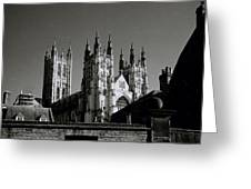Cathedral Of Canterbury Greeting Card
