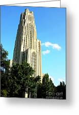 Cathedral Of Learning Greeting Card by Thomas R Fletcher