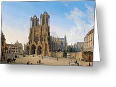 Cathedral Of Notre-dame At Reims Greeting Card