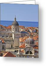 Cathedral Of The Assumption Of The Virgin In Dubrovnik Greeting Card