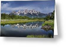 Grand Teton Cathedral Reflections Greeting Card