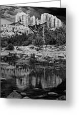 Cathedral Rock Black And White Number Seven Greeting Card