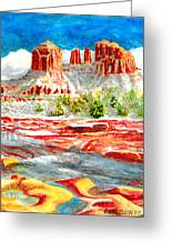 Cathedral Rock Crossing Greeting Card