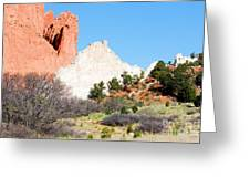 Cathedral Rock In Garden Of The Gods Park Greeting Card