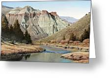 Cathedral Rock John Day River Greeting Card