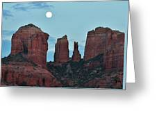Cathedral Rock Moon 081913 E2 Greeting Card