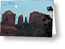 Cathedral Rock Moon 081913 G Greeting Card