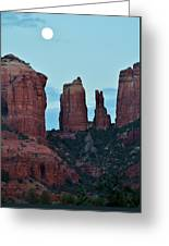 Cathedral Rock Moon 081913 H Greeting Card