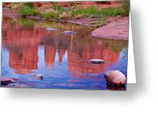 Cathedral Rock Reflection Pastel Greeting Card