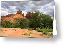 Cathedral Rock With Clouds Greeting Card