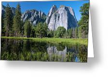 Cathedral Rocks - Yosemite Greeting Card