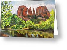 Cathedral Rocks In Crescent Moon Park Greeting Card