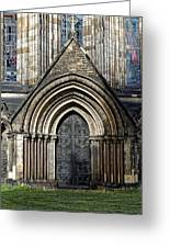 Cathedral Side Door Greeting Card