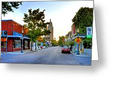 Cathedral Square Gallery On Dauphin Street Mobile Greeting Card