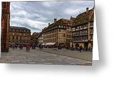 Cathedrale Notre-dame Or Our Lady Place, Strasbourg, France Greeting Card