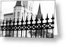 Catheral Basilica - Bw Greeting Card